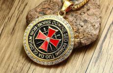 Амулет крест Тамплиеров